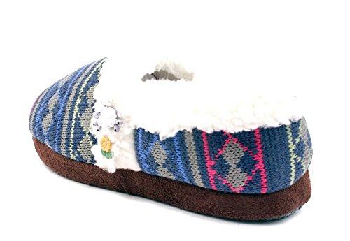 Sfilata Di Scarpe Da Donna Scivolose Su Scarpette Che Contano Pecore Blu