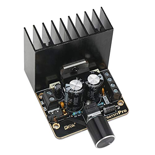 Power Amplifier Board, DROK 30W+30W Dual Channel 2.0 Digital Audio Stereo Amp Module, DC 12V Class AB TDA7377 Car Amplify Module for Speakers System DIY
