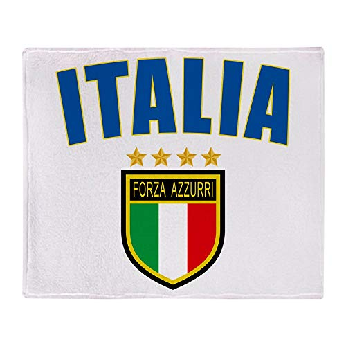 CafePress Italian World Cup Soccer Soft Fleece Throw Blanket, 50