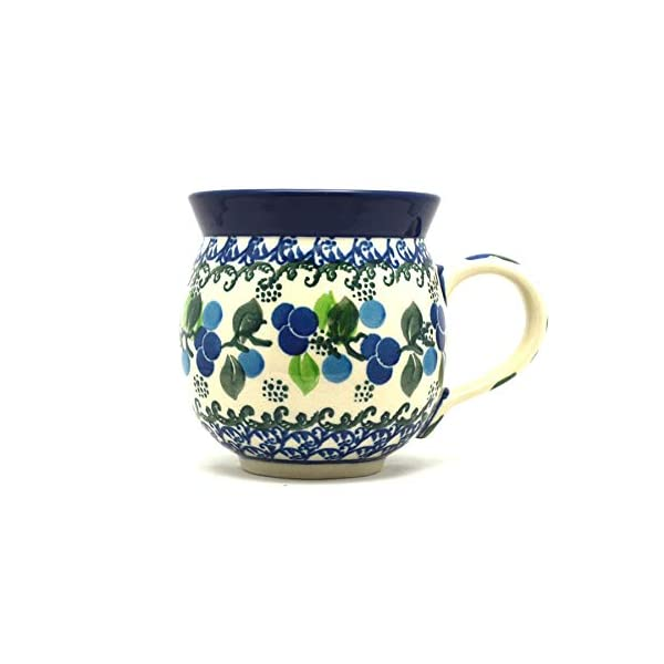 Polish Pottery Mug – 11 oz. Bubble – Blue Berries