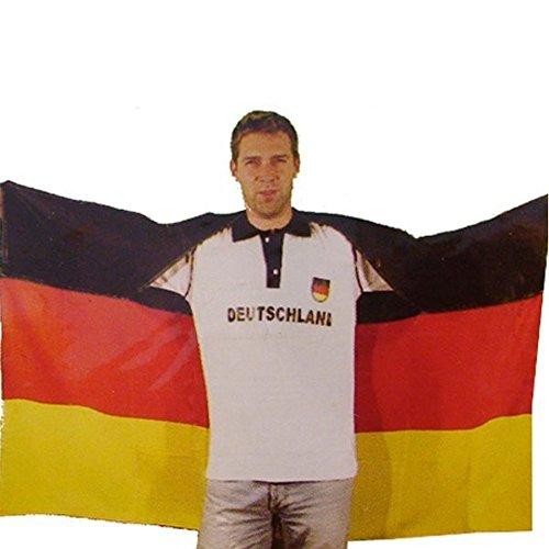Fahne Flagge Fanumhang 145x90 cm Deutschland Germany O7bz6AT