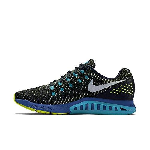 Nike Womens Air Zoom Structure 19 Scarpe Da Corsa Blk / Volt / Blue Lagoon