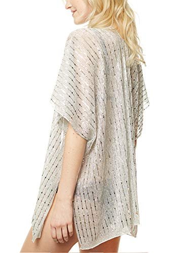 146cb4648dc APPARELISM Women's Summer Open Front Kimono Cardigan Beach Cover Up Tops.  (CP9501-SILVER