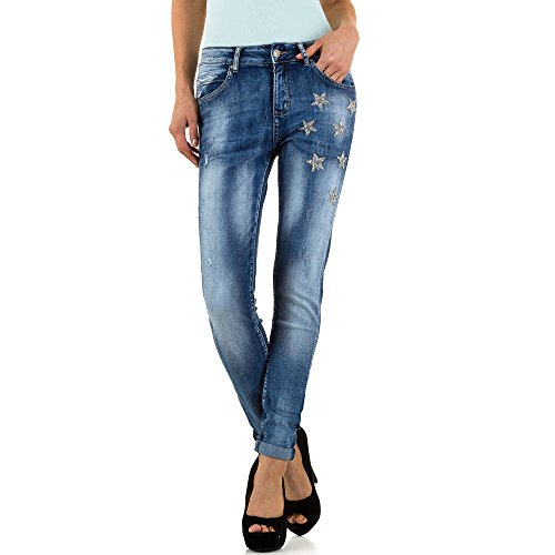 Used Look Low Skinny Jeans Für Damen , Blau In Gr. S bei Ital-