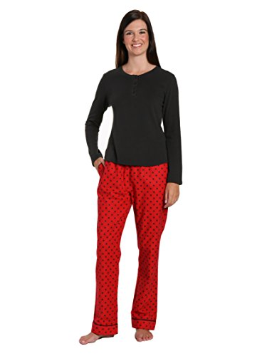 Noble Mount Gift-Packaged Womens Premium Cotton Flannel Loungewear Set