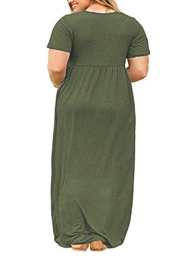 Nemidor Women Short Sleeve Loose Plain Casual Plus Size ...