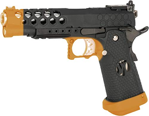 Evike AW Custom HX25 Full Metal Competition Ready Gas Blowback Airsoft Pistol (Color: Black) - Rifle Gas