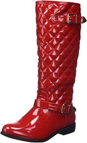 Cm Stiefel Rot Gepolsterte Ferse 2 Glasiert 5 Frauen Gefüllt 8fxarq8C