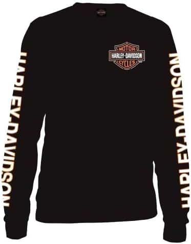 0604d706 122 bình luận. Từ Mỹ. Harley-Davidson Men's Long Sleeve Orange Bar & Shield  ...
