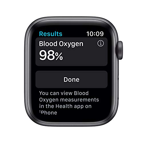 AppleWatch Series 6 (GPS, 44mm) - Space Gray Aluminum Case with Black Sport Band