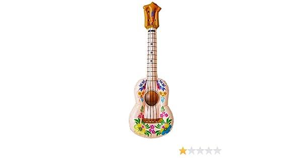 NET TOYS Guitarra inflada Hawai Ukelele Hula años 70 Playa ...