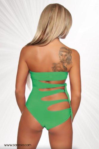 Push Up Trikini–Bikini Bandeau de bañador con Cut Outs en varios. Colores (Tallas XS–XL (18060) 5 Grün