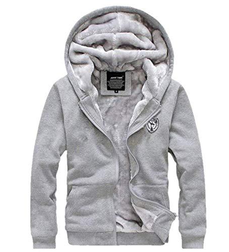 Velluto Comode Cardigan Abiti Grey Taglie Giacca Più Fashion Con Hoodie Warm Sport Cappuccio Coat Da Derbe Uomo Addensata Di Hx 4v01x