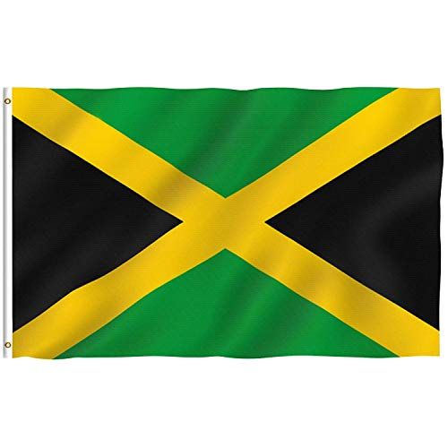 DANF Jamaica Flag 3ftx5ft Jamaican National Flags Polyester with Brass Grommets
