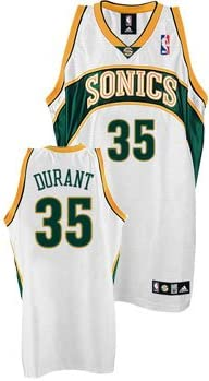 Seattle Supersonics Kevin Durant 2007 08 Rookie Home Authentic Jersey Shirt By