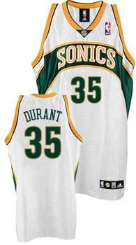 check out c5064 3e231 Amazon.com: Kevin Durant Sonics Authentic NBA Rookie Jersey ...