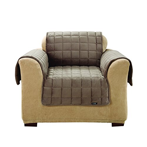 Sure Fit Deluxe Pet Cover - Chair Slipcover - Sable (SF39225) - Chair Sable