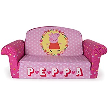 Charmant Marshmallow Furniture, Childrenu0027s 2 In 1 Flip Open Foam Sofa, Peppa Pig, By  Spin Master