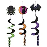 Classic Halloween Icon Wind-Spinners (asstd designs) Party Accessory (3-Pack)