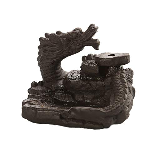 Dragon Ceramic Backflow Cone Incense Burner Dragon Smoke Holder Exquisite Present Box Best Gift