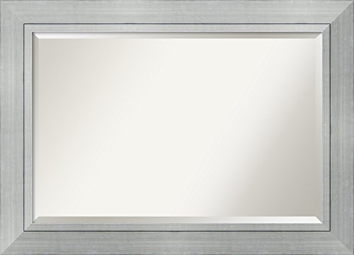 Wall Mirror Extra Large, Romano Silver Wood: Outer Size 43 x 31""