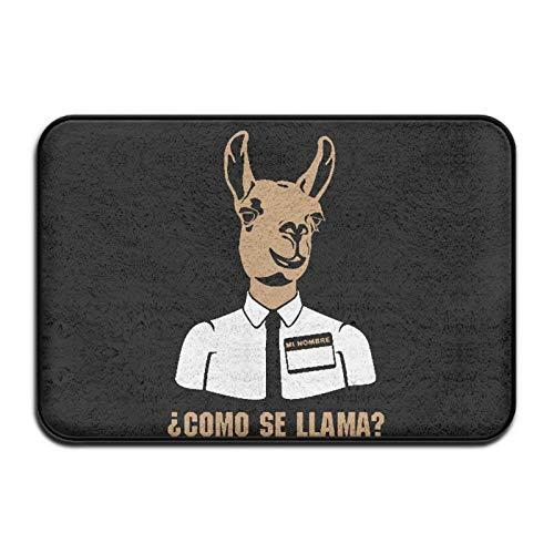Como Se Llama Spanish Llama Indoor/Outdoor Doormat Area Rugs Garden Office Indoor Rug 23.6