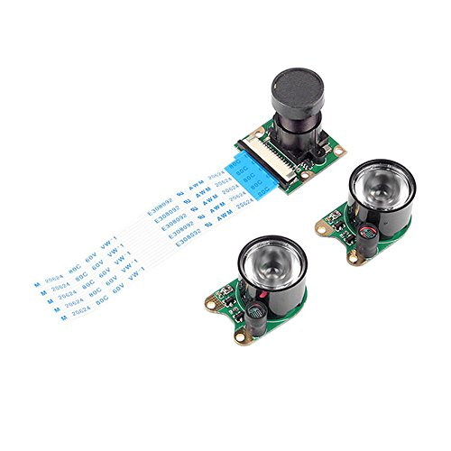SainSmart Infrared Night Vision Surveillance Camera + 2 Infrared Light For Raspberry Pi Arduino by SainSmart