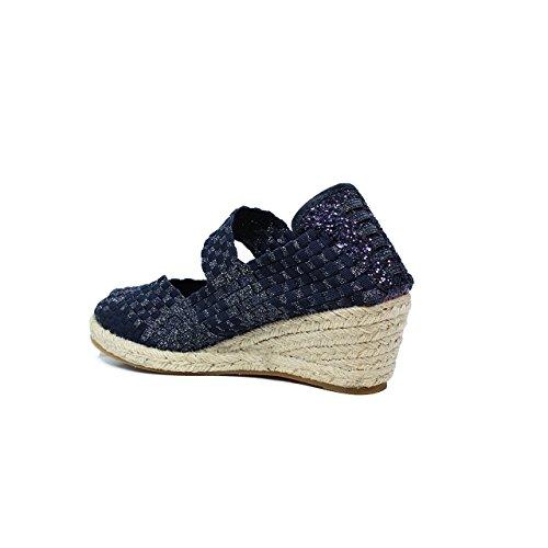 WozUP317 blau blau elastischen Metallseil Sandale neuen, Frühling, Sommer 2017