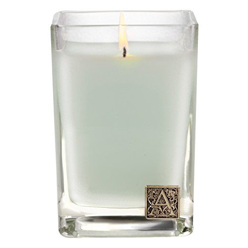 Aromatique Cotton Ginseng 12 oz Glass Cube Candle by