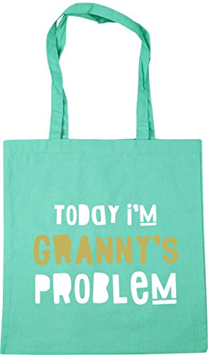42cm Granny's Mint HippoWarehouse Shopping I'm x38cm 10 Gym Today Bag Beach Tote Problem litres xxzOC6Ewq
