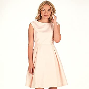 5c2b39116 Ted Baker Womens Friuli V Back Full Skirt Dress Natural (UK 14 Euro 40 USA  18)  Amazon.co.uk  Clothing