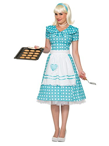 Forum Novelties Women's 50's Housewife Costume, Blue, Medium/Large
