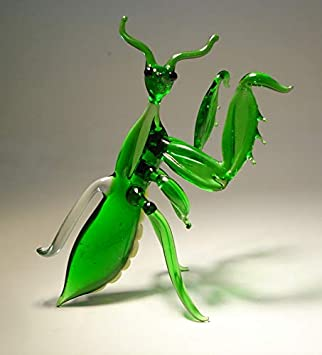 Glass Praying Mantis Figurine