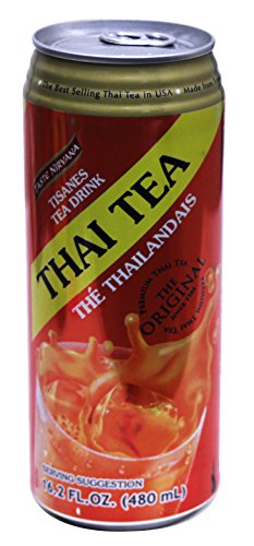 Tistanes Herbal Thai Tea Drink by Tast Nirvana - 24 Pack of 480 mL Cans