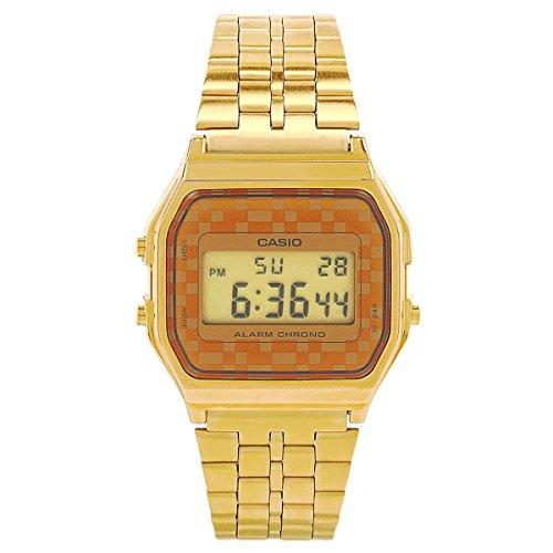 Casio #A159WGEA-9A Men's Vintage Gold Tone Chrongoraph Alarm LCD Digital Watch