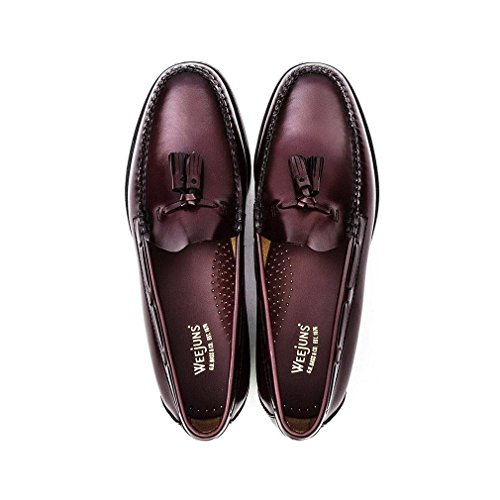 G. H. Bass Mens Weejuns Larkin Moc Tassle Leather Shoes Wine