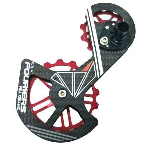 Fouriers Carbon Derailleur Cage Ceramic Pulley for Shimano RD9000 and 9070 and 6800, RD #HZ1075