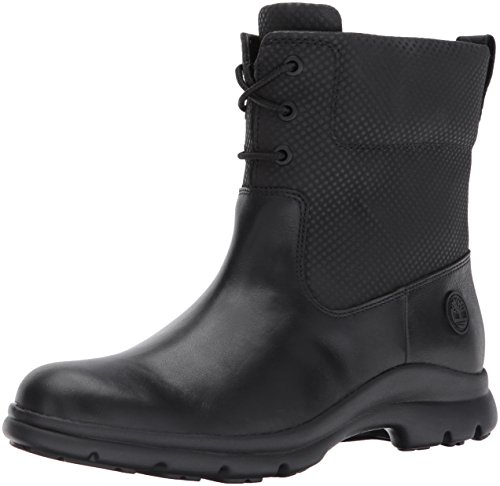Timberland Women's Turain Ankle Wp Rain Boot, Black, 7 C US