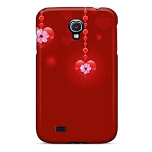 CVpLyPB7566ZPYMb Case Cover, Fashionable Galaxy S4 Case - Heart Garlands Valentine's Day