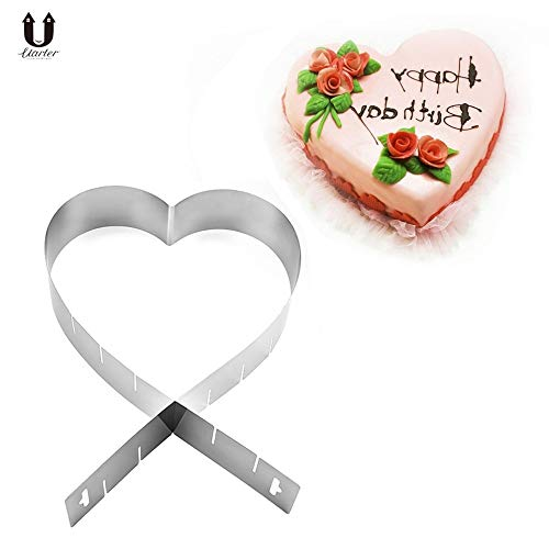 1 piece Uarter Heart-shaped Cake Mold Stainless Steel