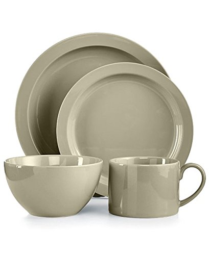 Martha Stewart Collection Harlow Oyster Shell Round 4-Piece Place Setting