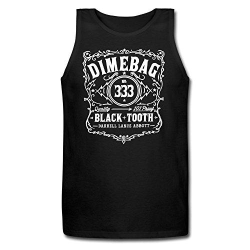 ZhiXiong Men Short Sleeve Dimebag Darrell Jersey Tank T-shirt