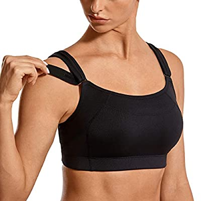 SYROKAN Women's Bounce Control Wirefree Front Adjustable High Impact Maximum Support Sports Bras at Women's Clothing store