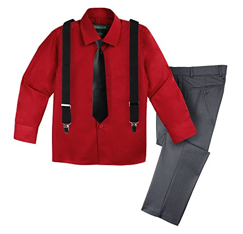 Spring Notion Big Boys' Halloween Inspired 4-Piece Outfit 19 Darth Maul (Darth Maul Outfit)