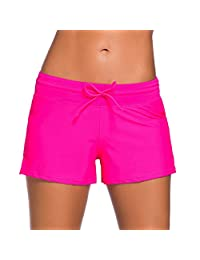 Blugibedramsh Women's Plus Size Beach Boardshorts Tankini Swimsuit Bottom Mini Shorts