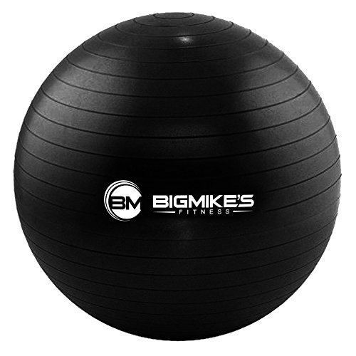 Big Mike's Fitness Anti-Burst Stability Ball (Black, 75 cm)