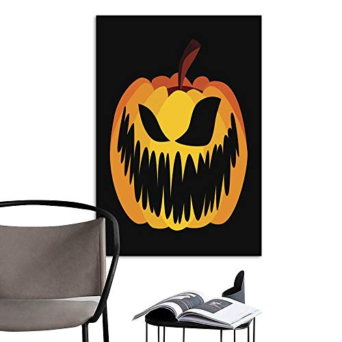 UHOO Art Painting Home ModernIsolated Vector Yellow Orange Festive Scary Halloween Pumpkin.jpg Perfect Contemporary Art Paintings for The Wall Without a frameDue 12
