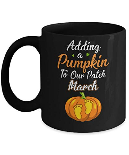 TeesPass Halloween Pumpkin Pregnancy Mom Due Date In March 2019 Mug -