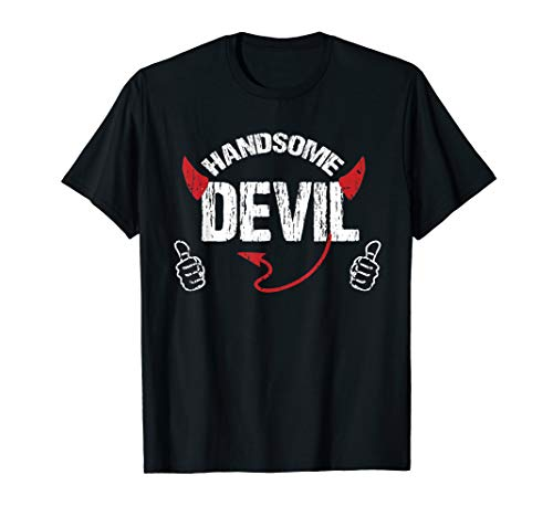 Handsome Devil Horns ad Tail Like Halloween Funny T-shirt ()