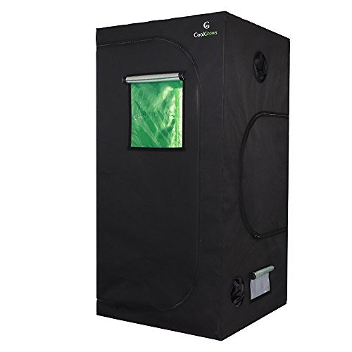 CoolGrows 36'x36'x72' Mylar Hydroponic Grow Tent with Window for Indoor Plant Growing 3'x3'x6'